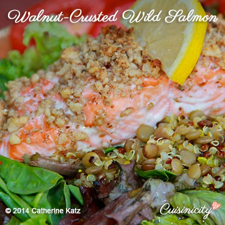 Walnut-Crusted Wild Salmon