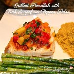 Grilled Swordfish With Pink Grapefruit Pepper Salsa