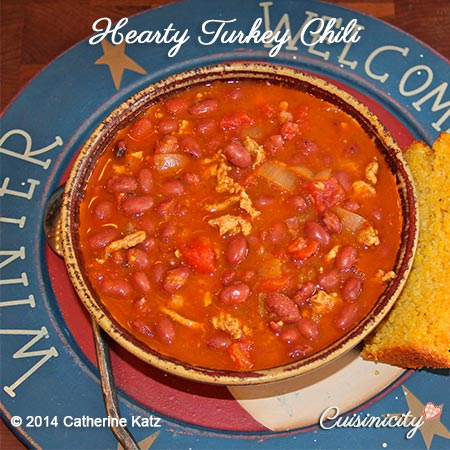 Hearty Turkey Chili Birds Eye View