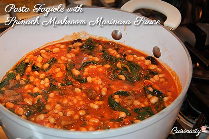 Pasta-Fagiole-with-Spinach-Mushroom-Marinara-Sauce-r