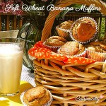 Soft Wheat Banana Muffins