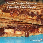 Peanut Butter Banana Chocolate Chip Panini