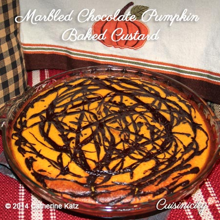 Marbled-Chocolate-Pumpkin-Baked-Custard-Recipe-Photo-2-Copyright-CKatz