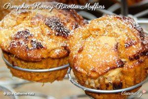 Pumpkin Honey Ricotta Muffins