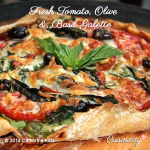 Fresh Tomato, Olive and Basil Galette
