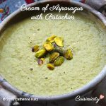 Cream of Asparagus with Pistachios