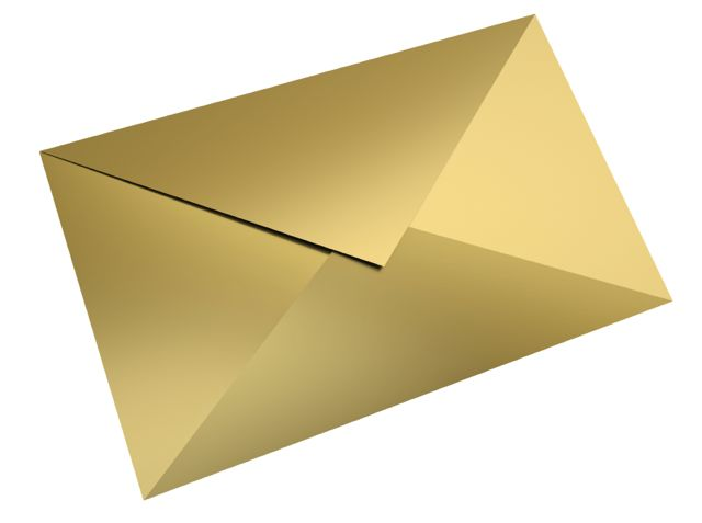 envelope gold 2 medium