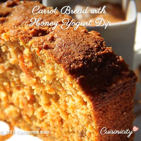 Carrot Bread with Honey Yogurt Dip
