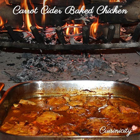 Carrot Cider Baked Chicken - Feature Photo