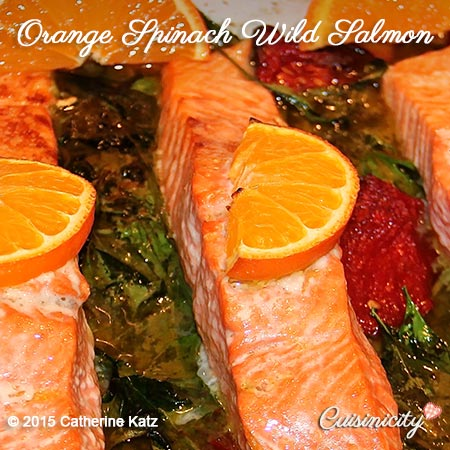 Orange Spinach Wild Salmon