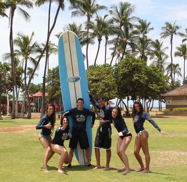 The Katz kids go surfing with Dad in beautiful Hawaii 2015