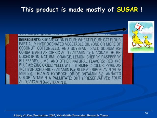 ND SUGAR 1ST INGREDIENT