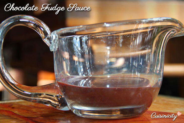 Chocolate Fudge Sauce Recipe Photo - perfect with chocolate lava cake