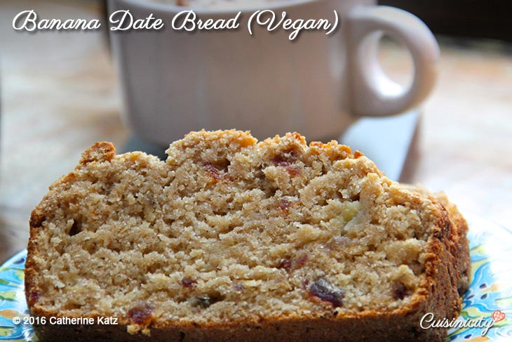Vegan Banana Date Bread-Recipe Photo