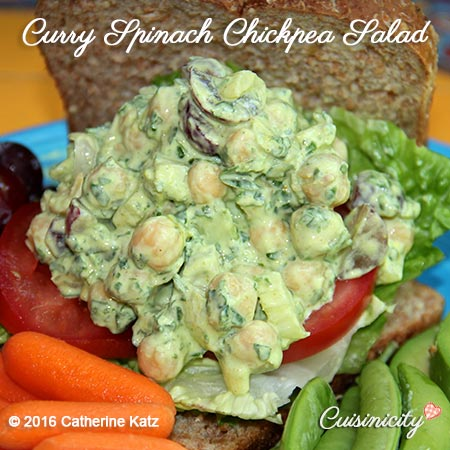 Curry Spinach Chickpea Salad