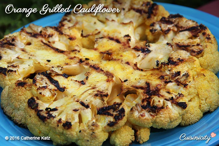Orange Grilled Cauliflower Recipe-Photo