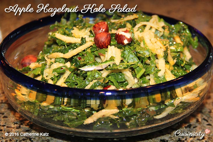 Apple Hazelnut Kale Salad
