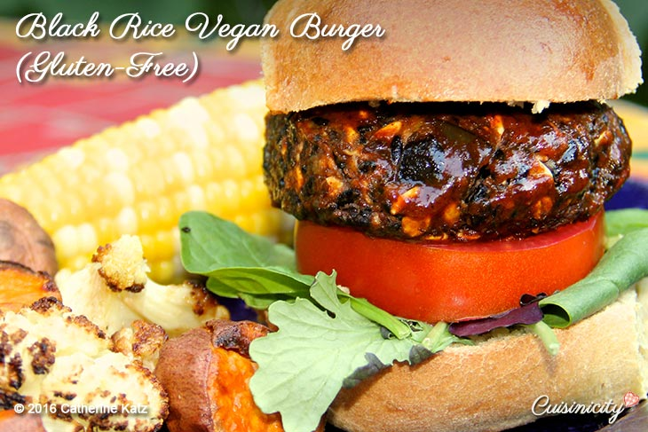black rice vegan burger