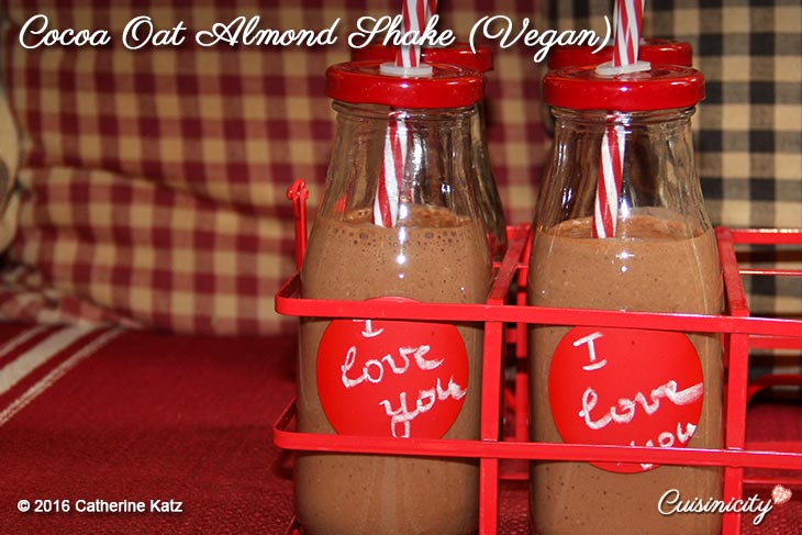 Cocoa Oat Almond Shake-(Vegan)-Recipe-Photo