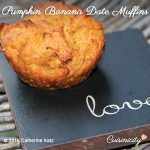 Pumpkin Banana Date Muffins (vegan)