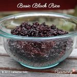 Basic Black Rice in a large glass bowl (square-shaped) feature photo