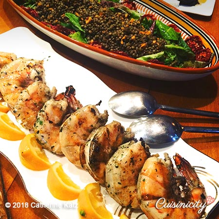 Grilled Shrimp dish for Sicily Culinaria trip