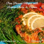 Pan-Seared Tilapia with Lemon Chives & Capers