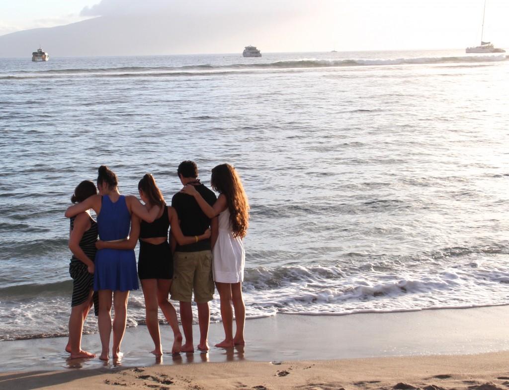 The Katz Kids Share a Moment on the Beach