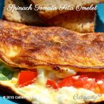 Spinach Tomato Feta Omelet
