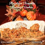 Hazelnut Pumpkin Oatmeal Cookies