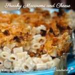 Sneaky Macaroni and Cheese - whole wheat elbow macaroni with crispy brown romano cheese and multigrain cereal top crust