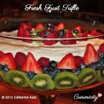 Fresh Fruit Trifle with white wine cake, yoghurt and yummy fresh fruit