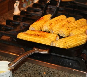 corn on grill medium
