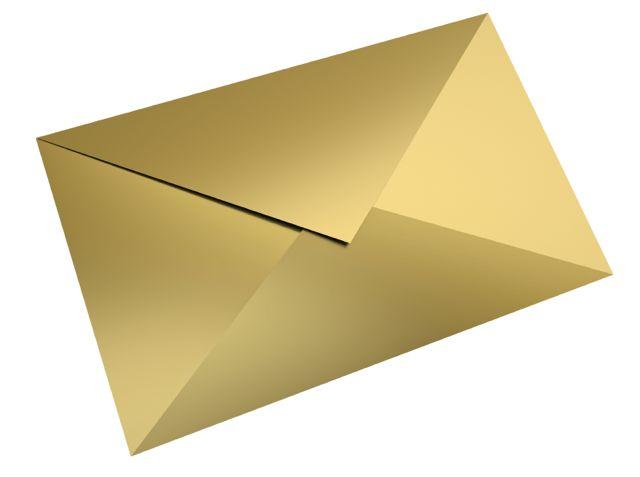 envelope gold 2 medium