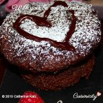 "Image title ""Will you be my valentine?"" with closeup of chocolate cupcake"