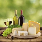 wine and cheese tasting in the countryside