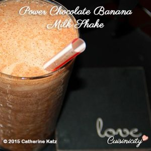 Power Chocolate Banana Milk Shake in Healthy Recipes Help the Healing Process blog post