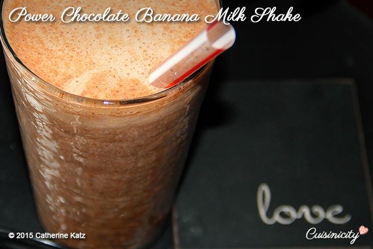 Power Chocolate Banana Milk Shake