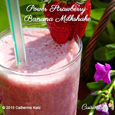 Power Strawberry Banana Milk Shake