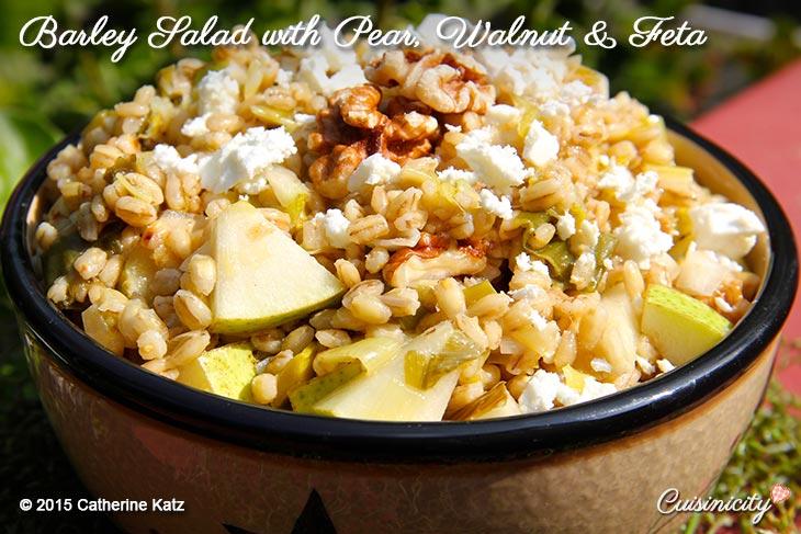 Barley Salad with Pear, Walnut & Feta