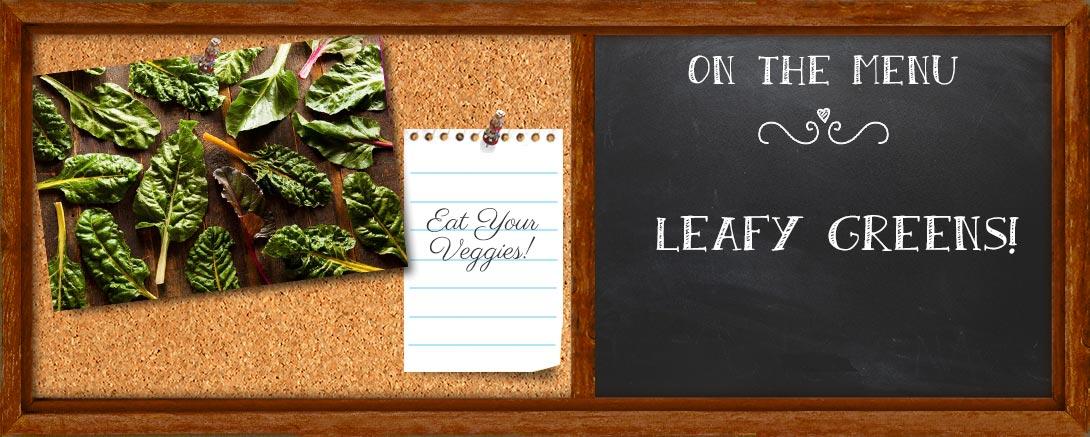 Leafy Greens Cuisinicity blackboard