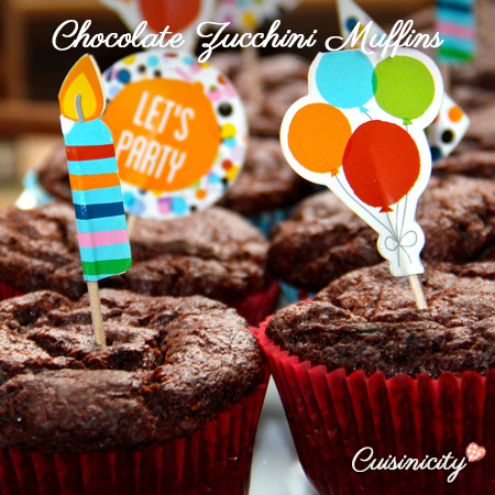 Chocolate Zucchini Muffins Feature Photo