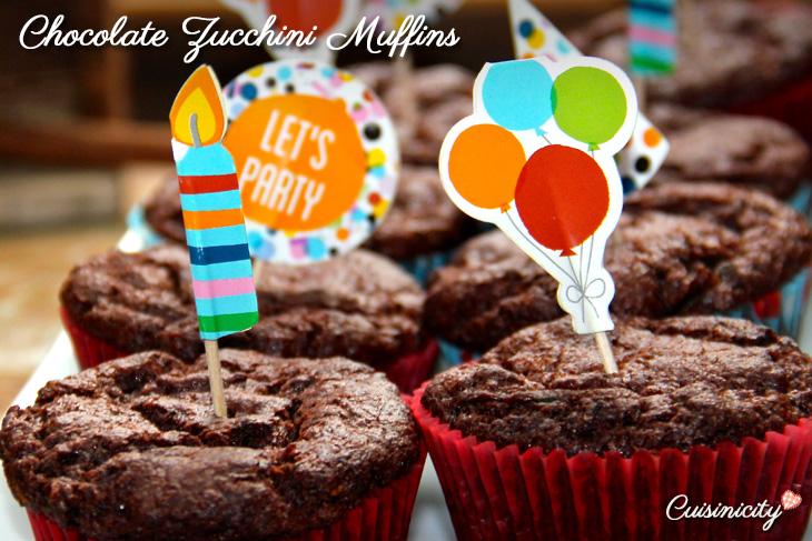 Chocolate Zucchini Muffins Recipe Photo