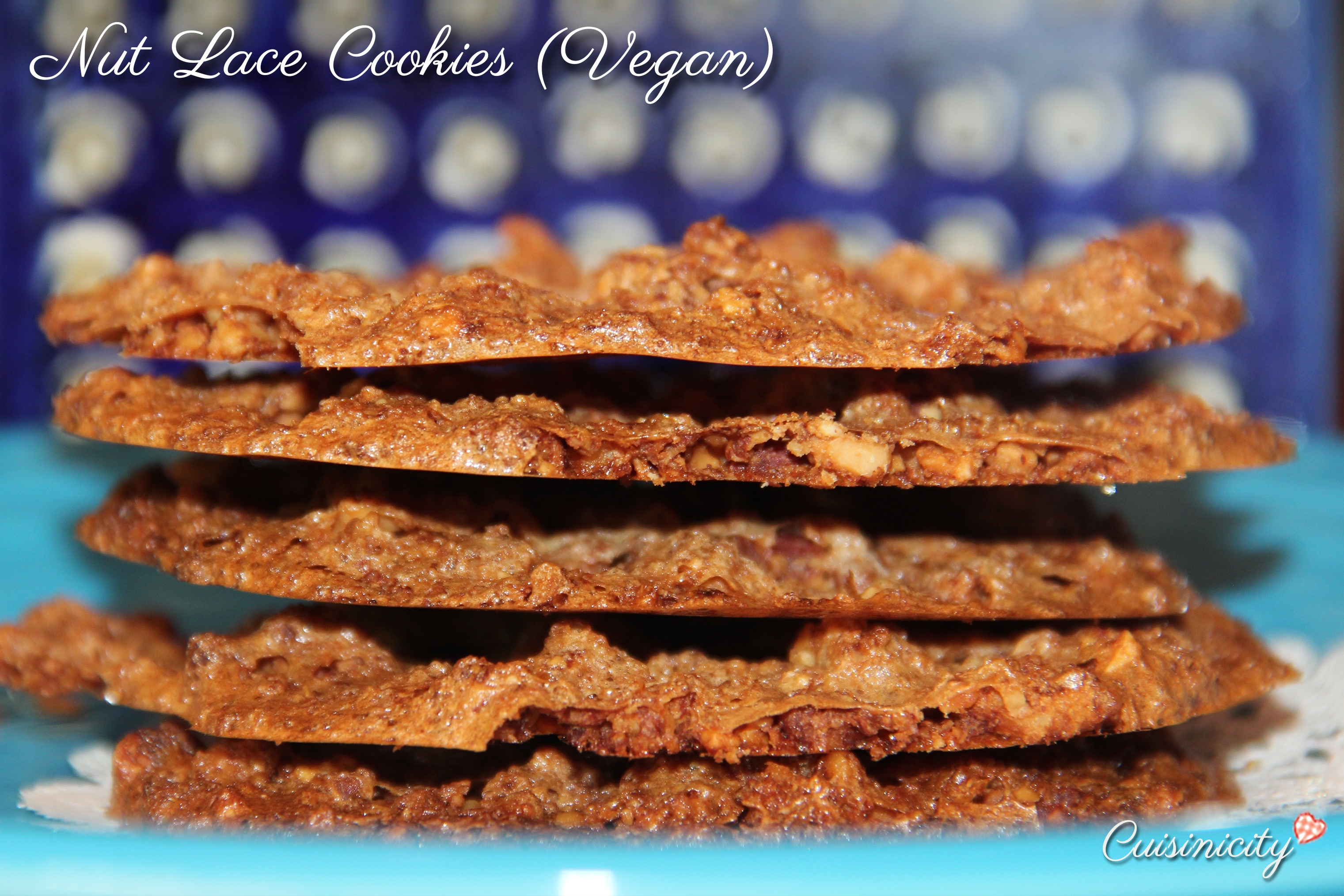 Nut Lace Cookies Vegan - Recipe Photo Hi Res
