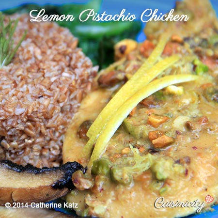 lemon pistachio chicken