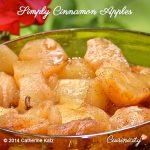 Simply Cinnamon Apples