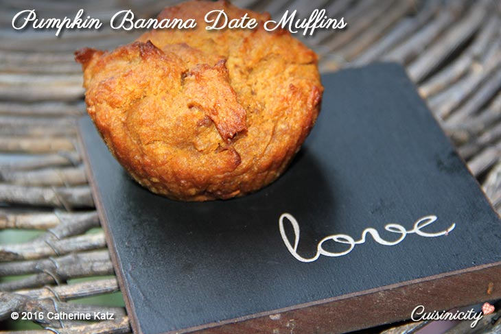 Pumpkin Banana Date Muffins