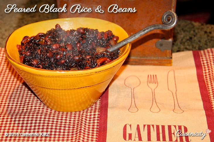 Seared Black Rice & Beans Recipe Hi Res Copyright CKatz