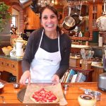 Catherine Katz with her strawberry galette