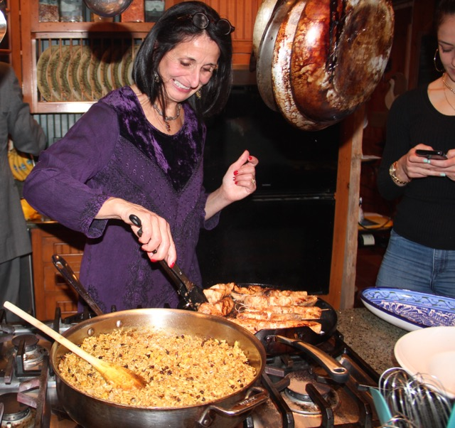 Cuisinicity Renaissance - Catherine cooking huge quantities for turkish-christmas-dinner